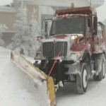 plow trucks prepare for noreaster