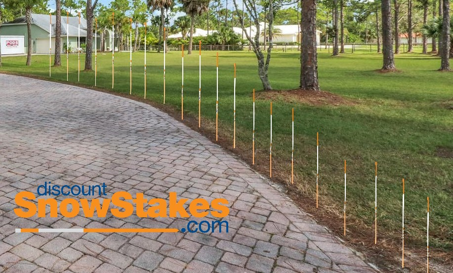 How Far Apart Should I Install My Driveway Markers Snow Stake City